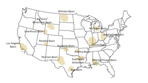 H2S prone regions within Continental US