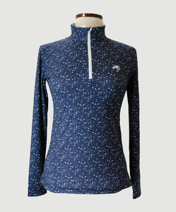 Ladies Navy Titanium LS Shirt