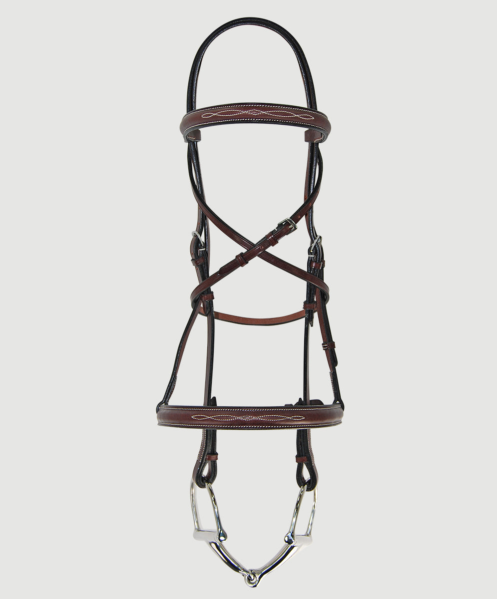 HBW-101 Bridle, Raised, Fancy Stitch