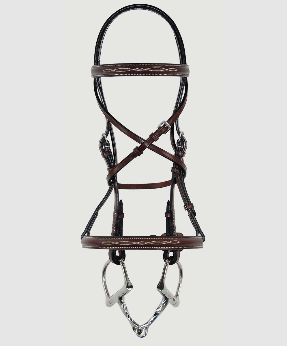 HBW-102 Bridle, Petite, Raised, Fancy Stitch