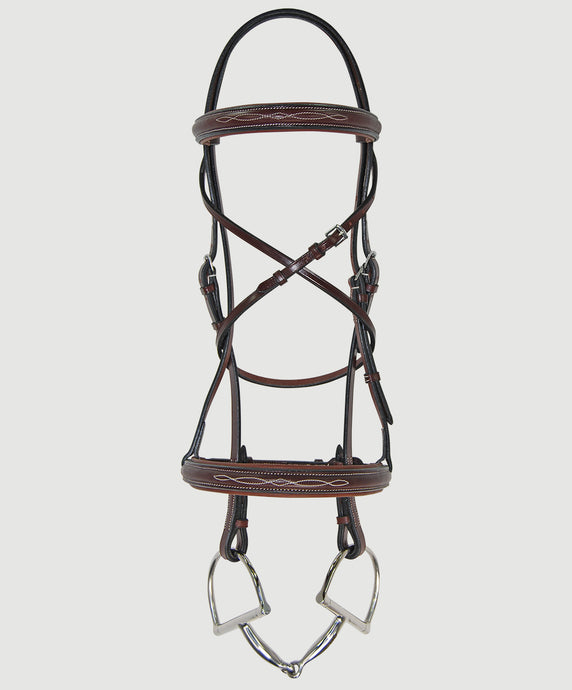 HBW-104  Bridle, Raised, Fancy, Padded