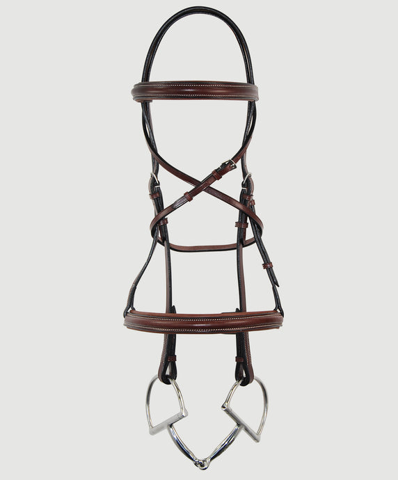 HBW-105 Bridle, Raised, Plain, Padded