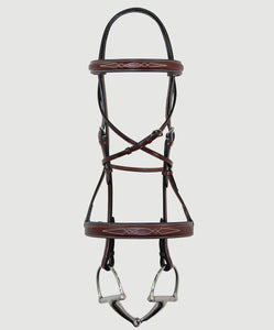 HBW-106 Bridle, Wide, Raised, Fancy Stitch, Double Diamond