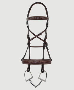 HBW-110 Bridle, Integrated, Wide, Raised, Fancy Stitch,Padded