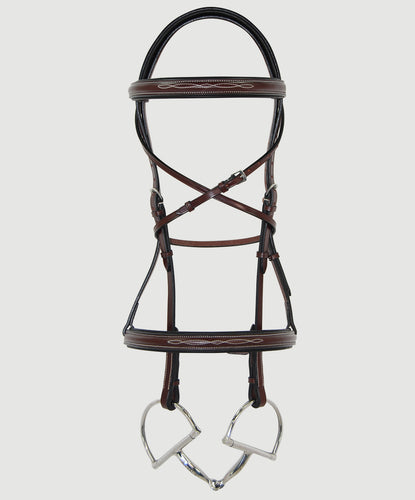 HBW-111 Bridle, Raised,Fancy Stitch, Black Padded