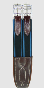 HBW-2000 Girth, Leather, Double Elastic