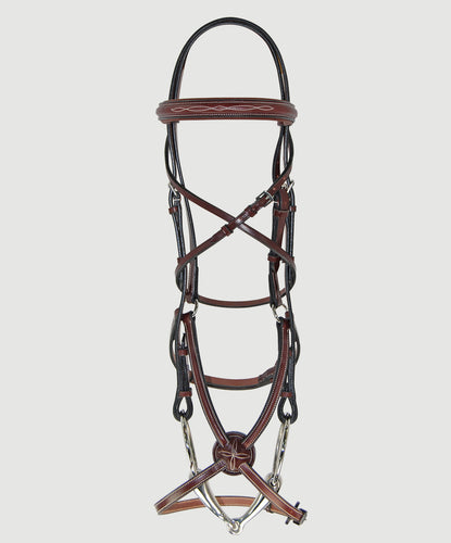 HBW-201 Bridle, Figure 8, Raised, Fancy