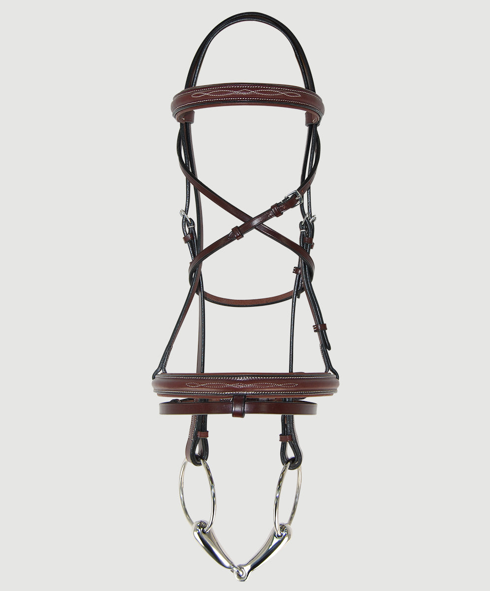 HBW-203 Bridle, Raised,Fancy Stitch, Padded w/ Flash