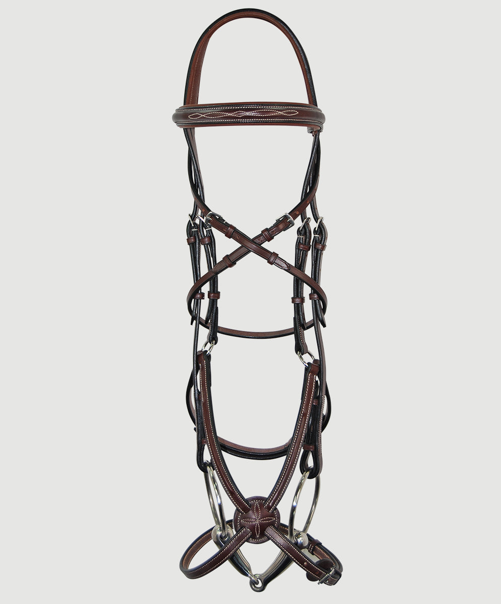 HBW-210 Bridle, Anatomic, Figure 8, Raised