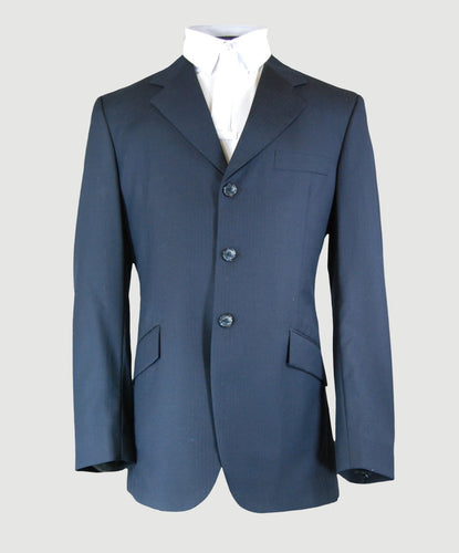 Mens Navy Basic Wool Coat