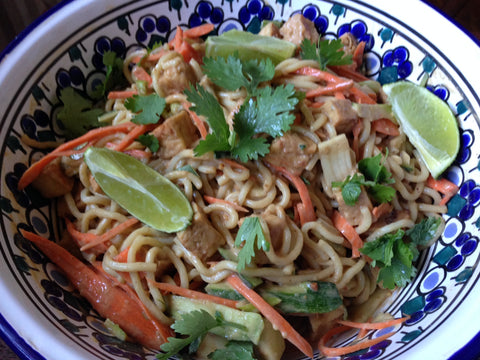 Spicy Pepper Relish Peanut Noodles Recipe