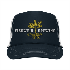 Mens Trucker Hat Navy/Green