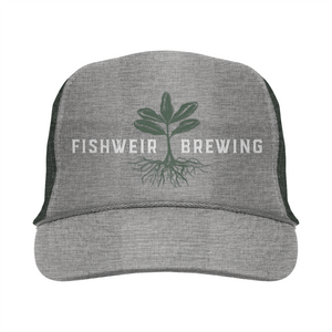 Mens Trucker Hat Grey/Dark Green