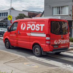 A photo of an van owned by Australia Post.
