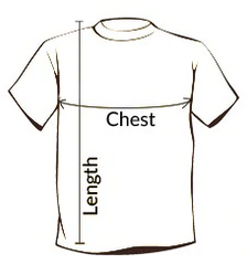 How to measure a mens fishing t-shirt