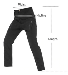 Mens pants measurement guide.