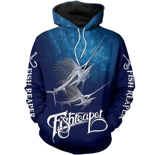 Fish Reaper Marlin Hoodie S Guts Fishing Apparel