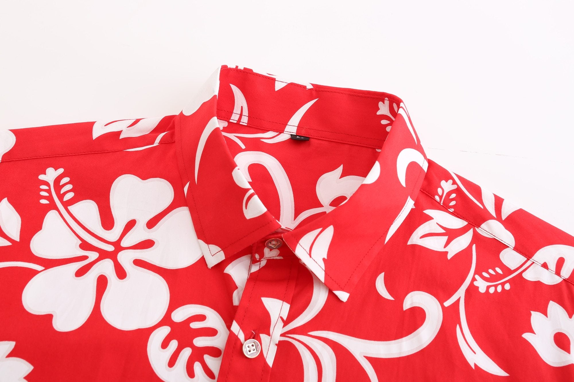Red Hibiscus Hawaiian Shirt