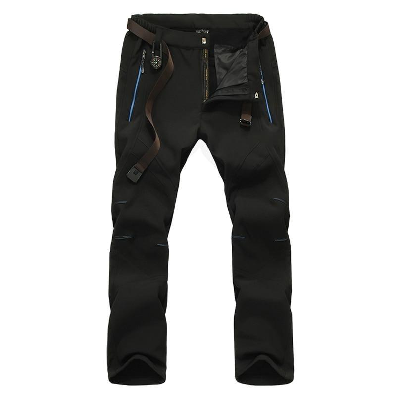 Softshell Fleece Trekking Pants Black / 30