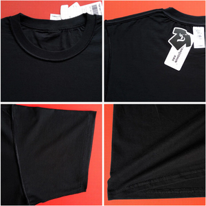 Quality t-shirt fabric black.