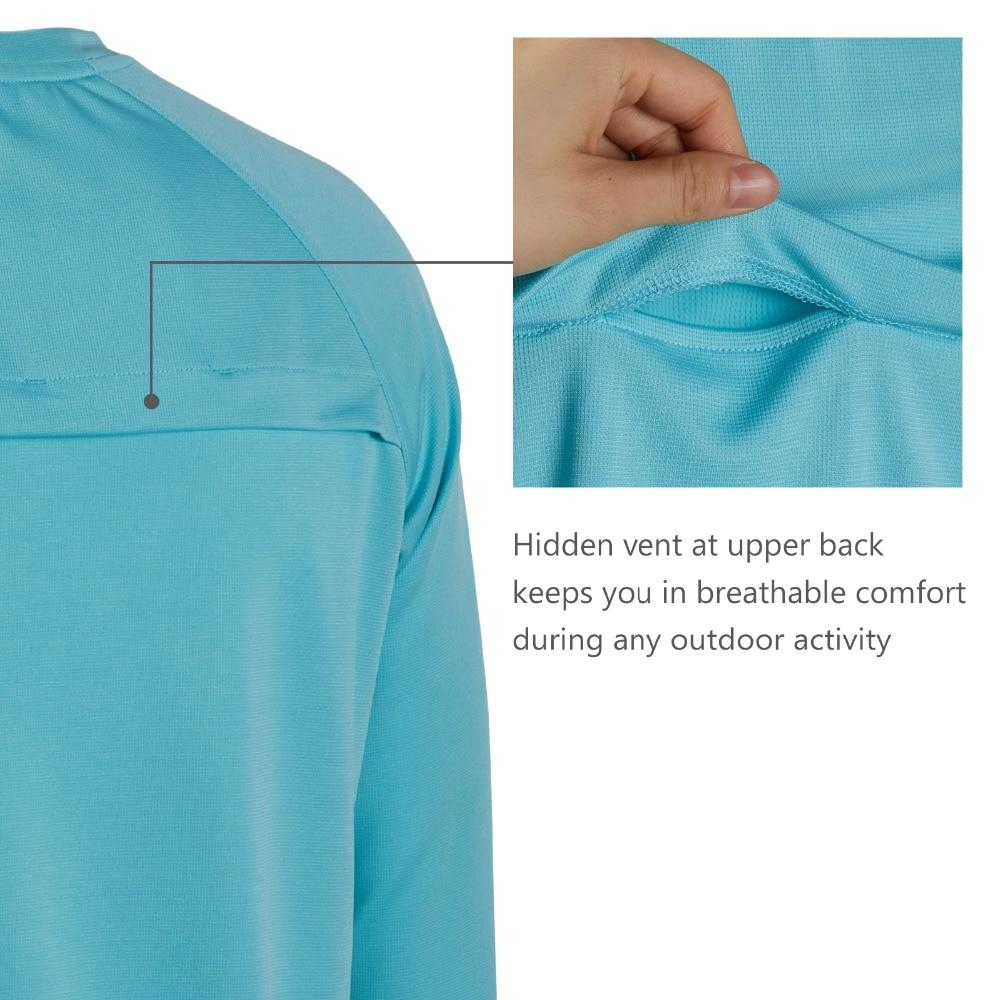 Bassdash fishing shirt with hidden air vents.
