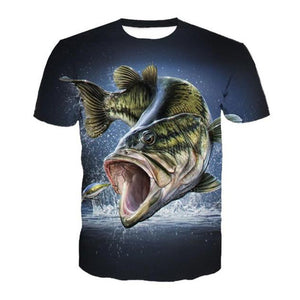 Cool chase fishing t-shirt with X larger size available