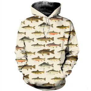 Fish Chart Hoodie & Sweatshirt Hoodie / 5XL Guts Fishing Apparel