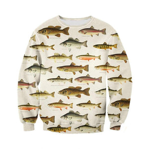 Fish Chart Hoodie & Sweatshirt Sweatshirt / XS Guts Fishing Apparel