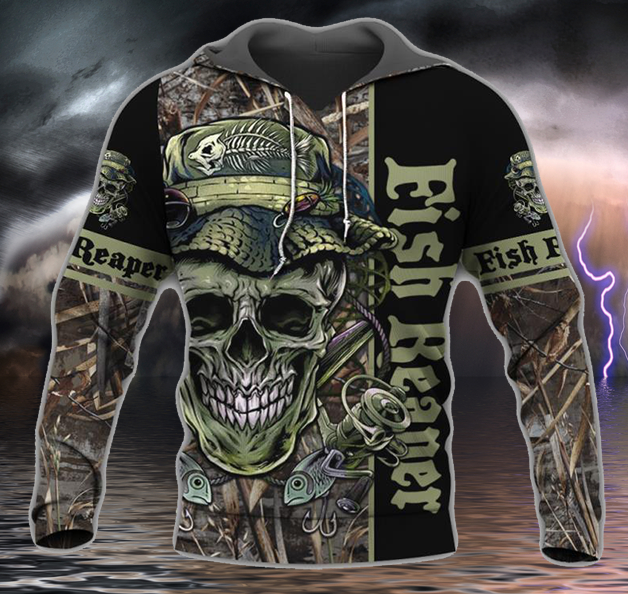 Fish Reaper Hoodie Guts Fishing Apparel