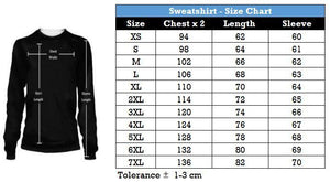 Size Chart Fish Reaper Hoodie & T-Shirt Guts Fishing Apparel
