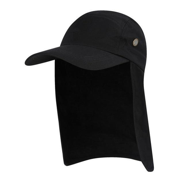 Flap Back Caps BLACK Guts Fishing Apparel