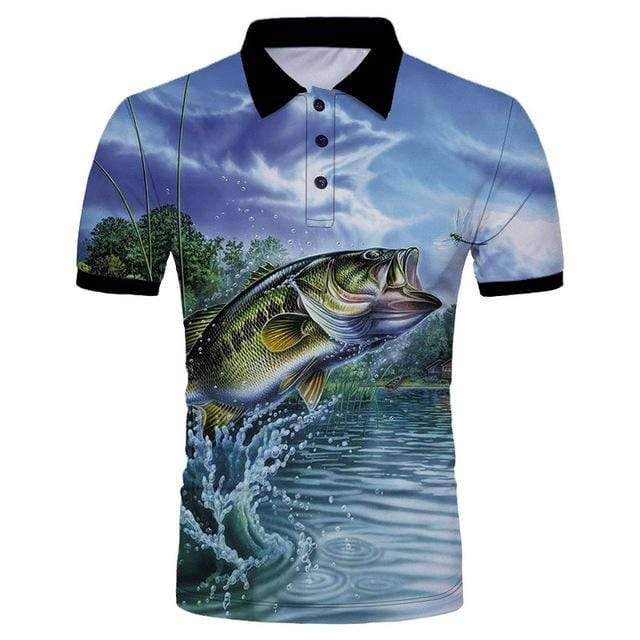 Guts Fishing Apparel  Fishing Shirt 4XL Dragonfly Polo Shirt