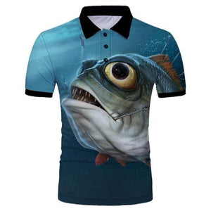 Guts Fishing Apparel  Fishing Shirt 5XL Big Eye Polo Shirt