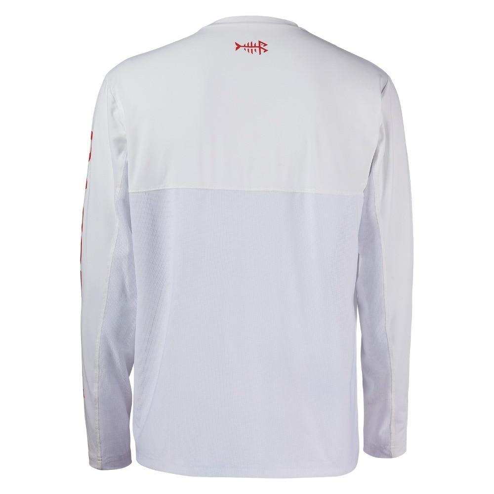 The quick dry bassdash fishing shirt is made from quick dry and moisture wicking fabric.