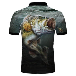 Guts Fishing Apparel  Fishing Shirt Big Bite Polo Shirt
