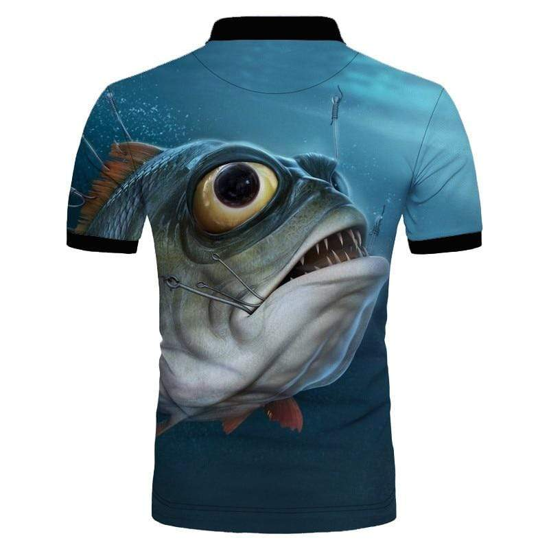 Guts Fishing Apparel  Fishing Shirt Big Eye Polo Shirt