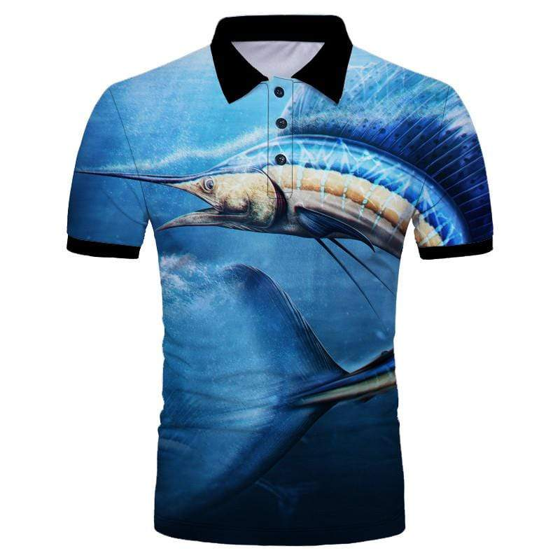 Guts Fishing Apparel  Fishing Shirt Sailfish Polo Shirt