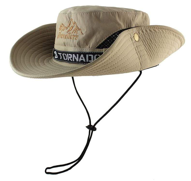 The tornado F14 military boonie hat with chin cord and button up brim on the sides.