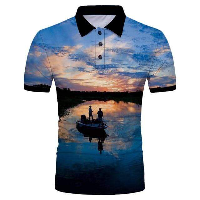 Guts Fishing Apparel  Polo Shirt 5XL Clear Lake Polo Shirt