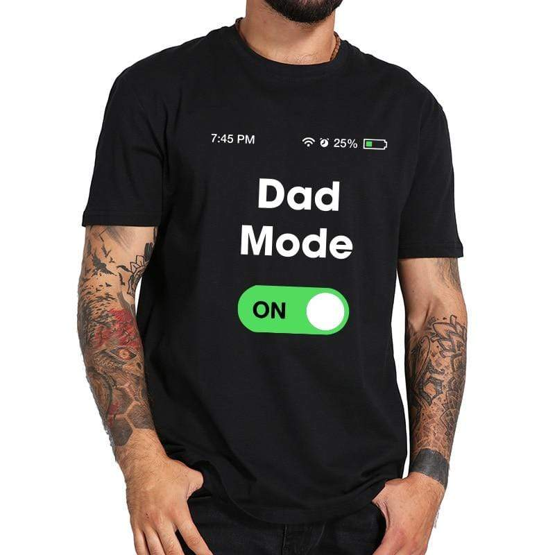 Dad Mode On T-Shirt in black.