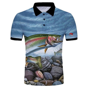 Rainbow Trout Polo Shirt