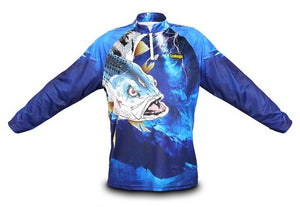 Guts Fishing Apparel - awesome fishing shirt in the colour blue.