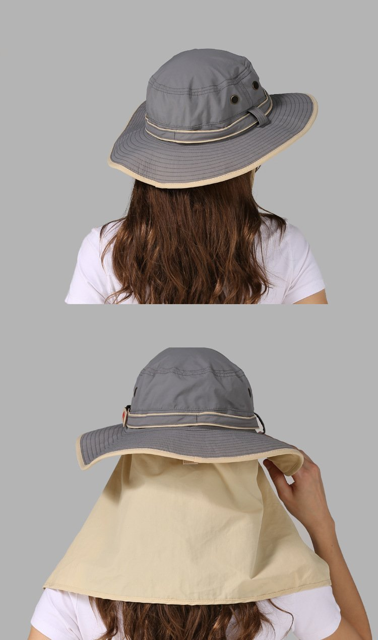Women's wide brim hat with back sun shade