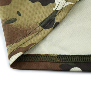 Image of the Quick dry camo shirt moisture wicking material.