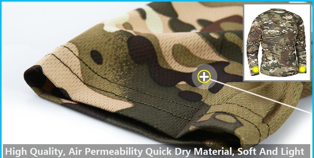 The quick dry camo long sleeve shirt sleeve.