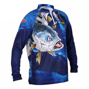 Guts Fishing Apparel - blue long sleeve fishing shirt