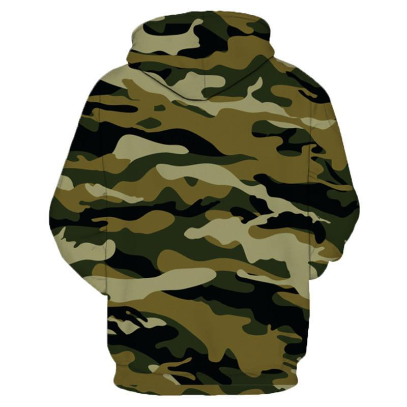 A camouflage sweatshirt that says no luck all skill. Hooded Fishing Shirt range by Guts Fishing Apparel.