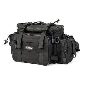 Guts Fishing Apparel - Black Leo fishing bag with shoulder and waist strap.