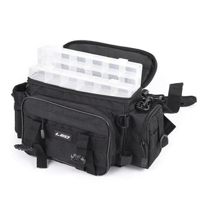 Black tackle bag.