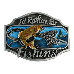 Guts Fishing Apparel - I'd rather be fishing belt buckle